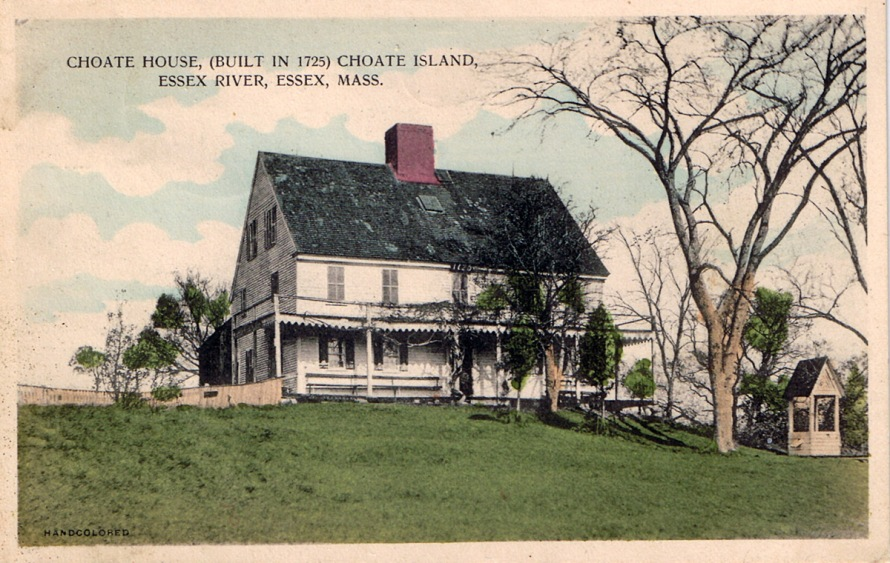 The Choate House on Hog Island postcard