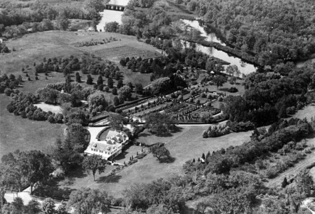 Aerial view of the Riverbend Estate, still remembered as the Marguery Restaurant