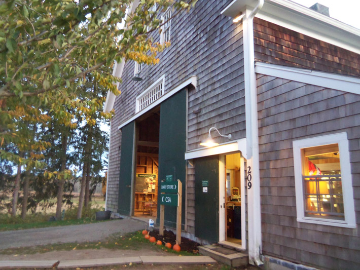 In the summer, the Appleton Farms CSA and Dairy Store is a good turnaround spot, with some snacks and drinks available.