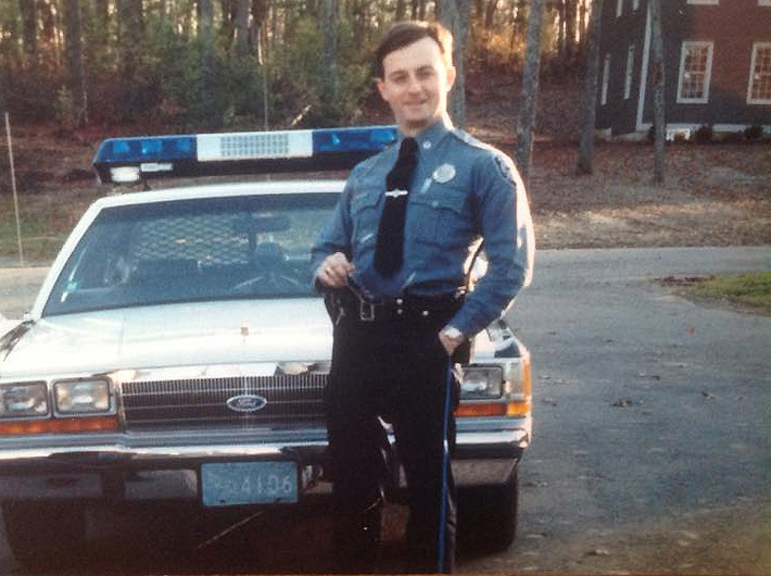 Gavin Keenan, early in his career with the Ipswich Police Department.