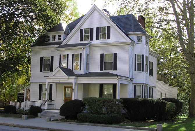 The Joseph Ross house at 6 High St. is the Whittier-Porter Funeral home