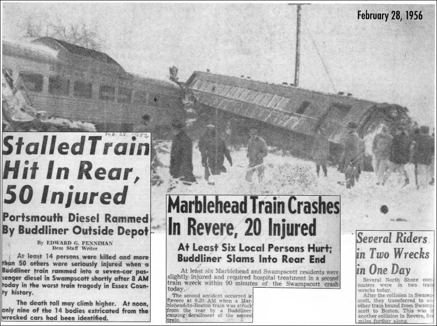 Newspaper articles about the two train crashes on