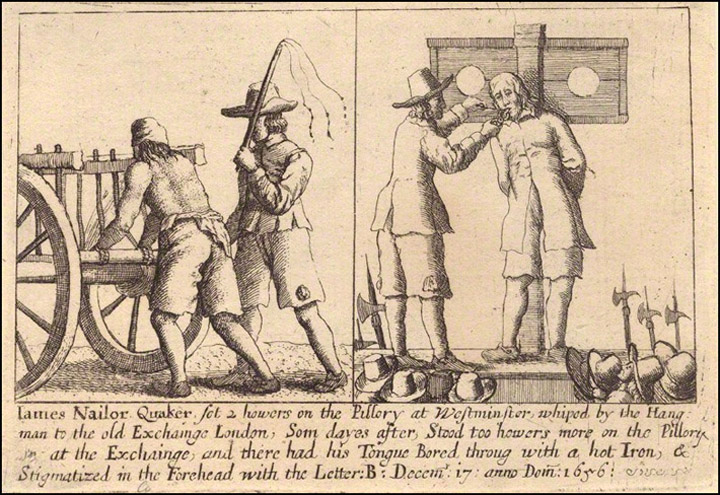 Puritans torturing quakers