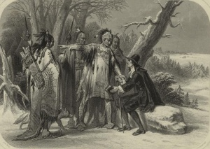 The Narragansett Indians welcomed Roger Williams