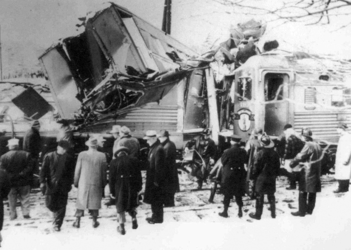 Parts of the train were totally destroyed