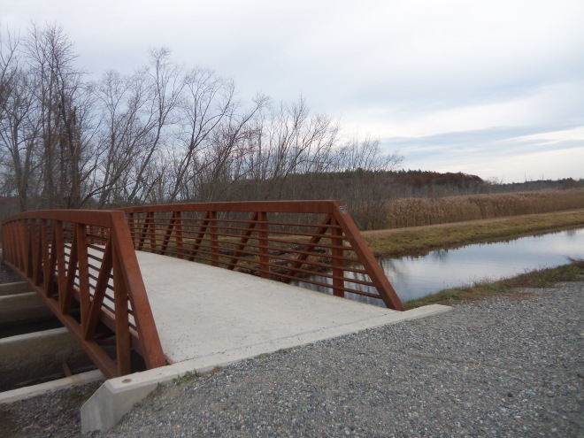 A new bridge was built over the canal this year, allowing walkers and cyclists access to both sides.