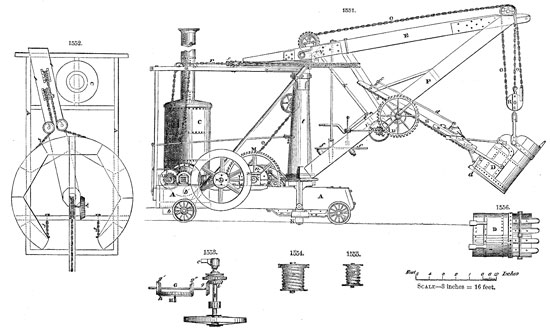 William Otis received a patent for a rail track-mounted steam shovel in 1839.