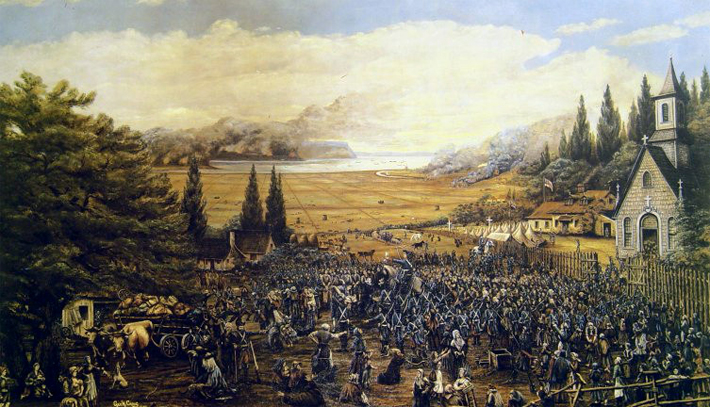 The British forced deportation of Acadian s