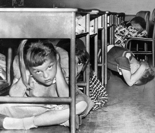 Duck and Cover exercise during Cold War