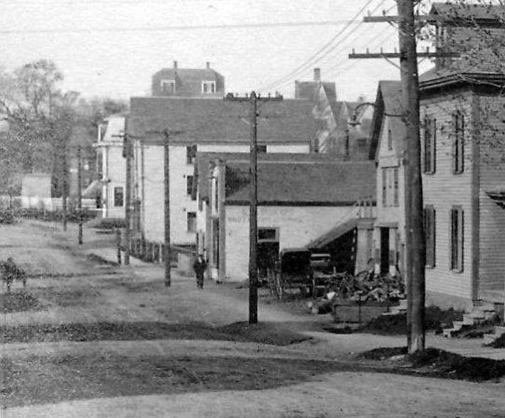 An early view of Hammatt St. from Central St.