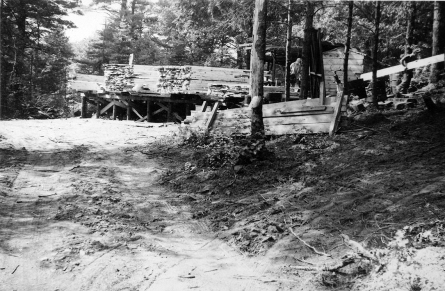 Tedford and Martin Lumber began with a portable sawmill in the woods along Linebrook and Topsfield Roads.