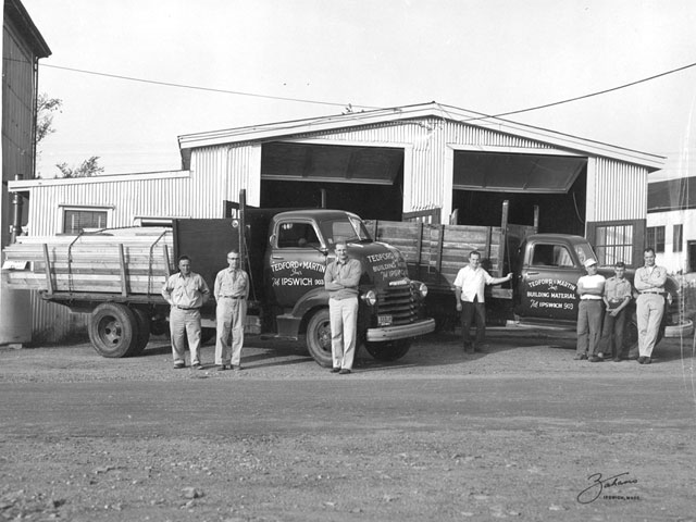 Tedford and Martin opened their lumberyard on Brown Square.