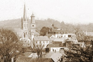 View from Town Hill in Ipswich by George Dexter, before 1900