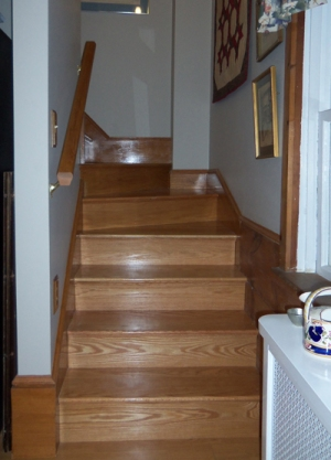 New back stairs