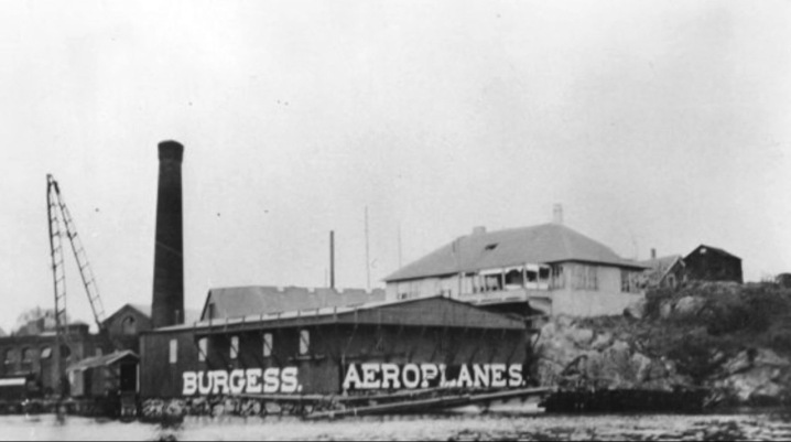 The Burgess airplane factory in Marblehead