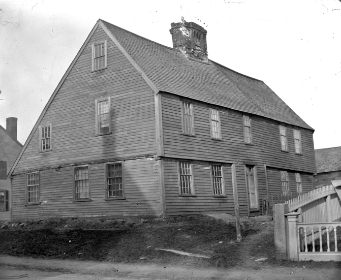 The Dodge house once stood at the corner of North Main St. and Summer St.