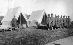 National Guard at Cable Hospital during the 1918 flu epidemic