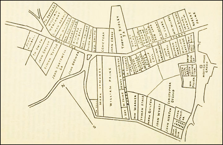 Land allotments to Puritan settlers in Ipswich Ma