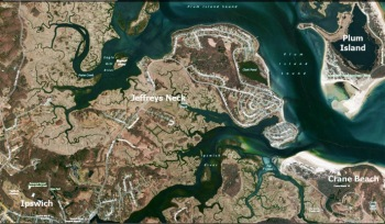Jeffreys Neck Ipswich ma map and aerial view