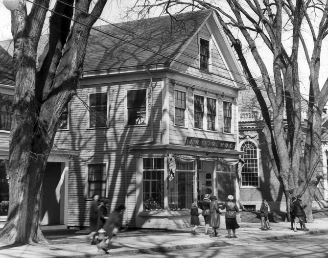 The J. W. Goodhue store still stands.