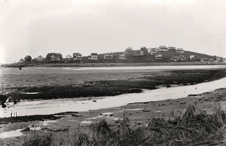 View of Little Neck from Treadwell's Island. Photo by George Dexter, circa 1900.