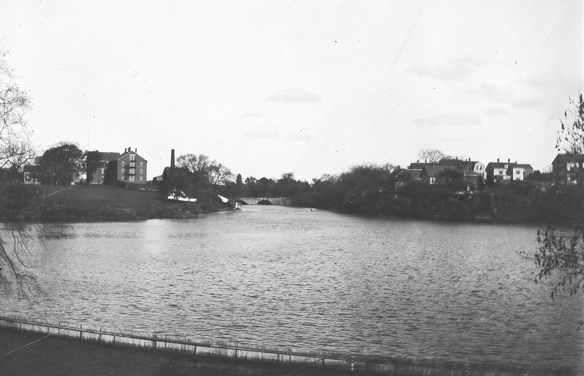 View of the Ipswich jail on the left, from Great Cove