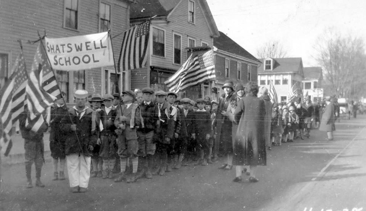 Central St. parade, students from Shatswell School