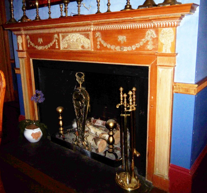 fireplace in the Captain Thomas Perkins house