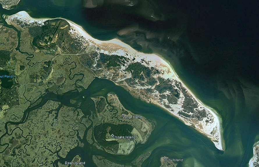Google earth satellite view, April 29, 2005