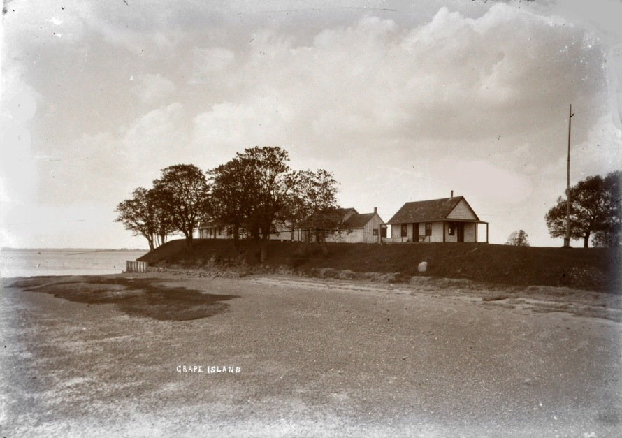 The northern end of Grape Island, photo by George Dexter, circa 1900