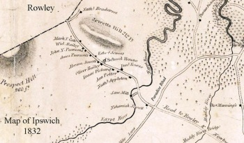 Jewett Hill, Ipswich Village map