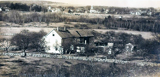 View of Rowley Center from Myzzy's Hill, 1902