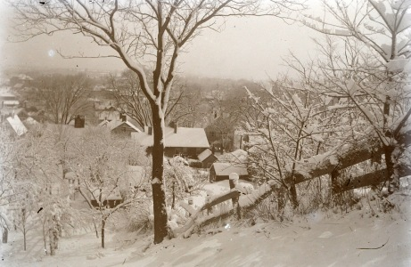 Town Hill view, snowstorm by George Dexter