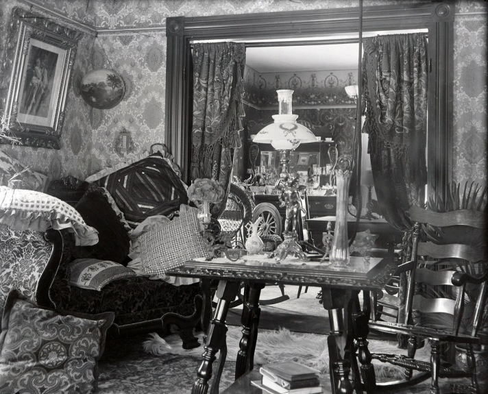 Unknown Victorian living room. Photo by George Dexter