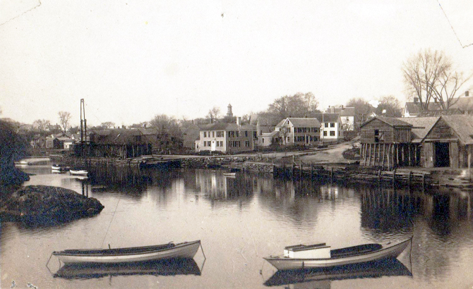 Town Wharf from Agawam Ave. Photo by George Dexter