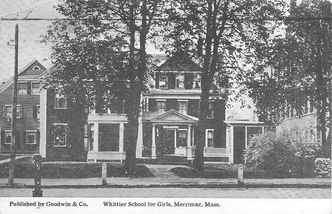 The Whittier School for girls was established in Merrimac, MA.