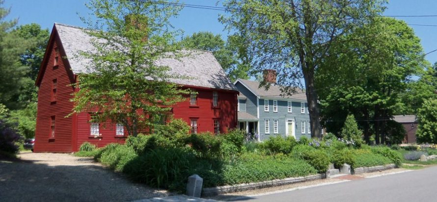 Historic houses on Water Street in Ipswich MA