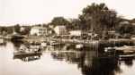 Ipswich town wharf circa 1930, photography by Edward Darling