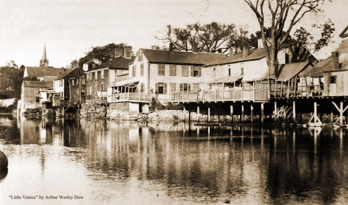 """""""Little Venice"""" is the name Arthur Wesley Dow gave to the rear of houses and shops on South Main St."""