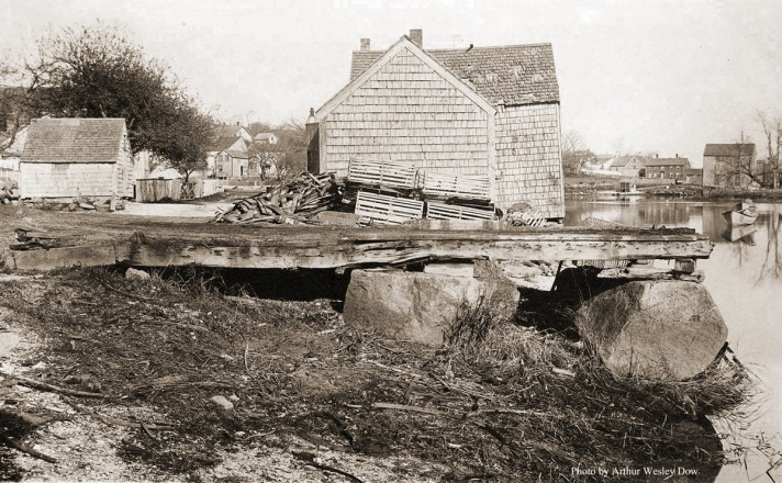 This house on Water St was just past the clam shacks. Photo by Arthur Wesley Dow.