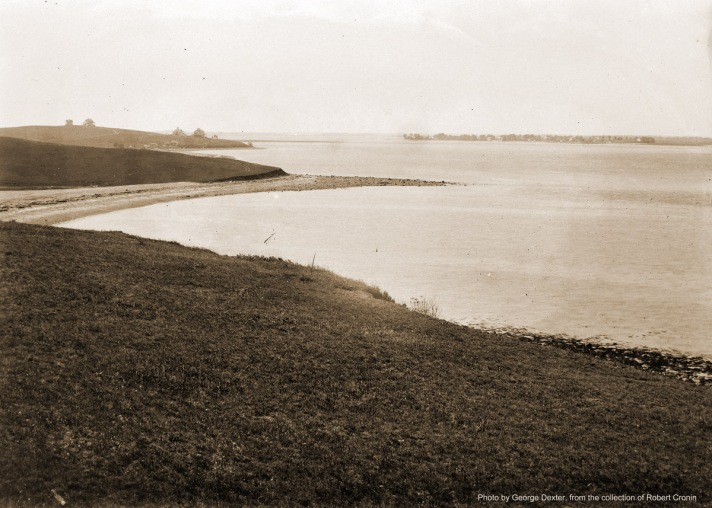 View from Steep Hill: Ipswich River and Plum Island Sound. Little Neck is upper left. Photo by George Dexter