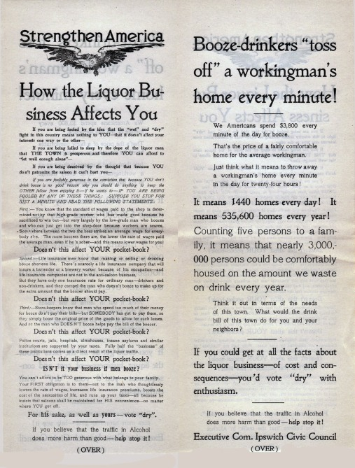 This ad appeared in local papers throughout the country in March, 1918.