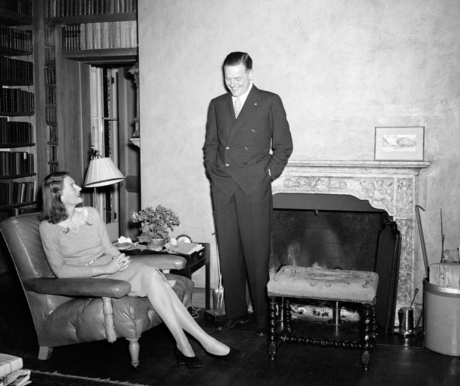 """Henry Cabot Lodge, Jr. and his wife Emily Sears Lodge """"at home"""" in Beverly 1936. (photo courtesy: www.voxsartoria.com)"""