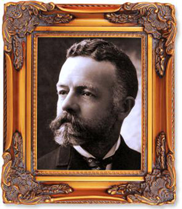 "Senator Henry Cabot Lodge (1850-1924), Cabot's grandfather, who helped raise him when the latter's father ""Bay"" Lodge, a poet, died young. The elder Lodge was prominent in American politics, being known as a great friend of Theodore Roosevelt and fierce adversary of Woodrow Wilson. (photo courtesy: harpers.org)"