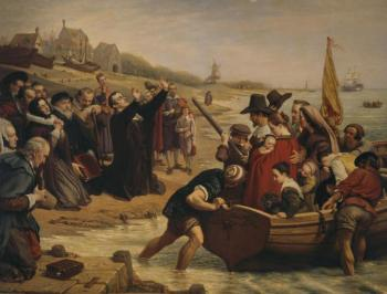 Puritans leaving for America