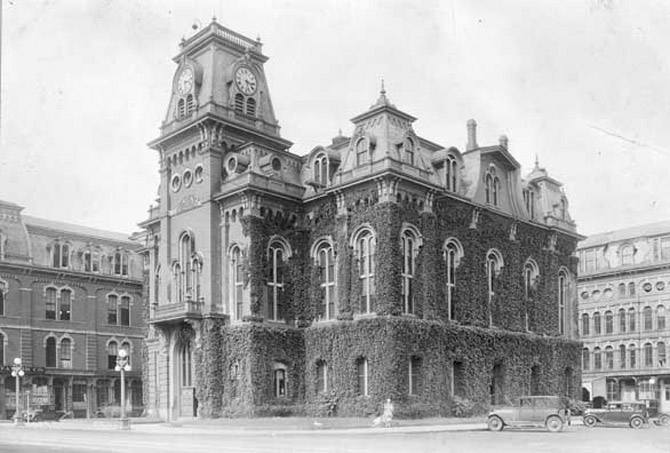 The old Town Hall, donated by Wakefield was demolished in 1958. (photo courtesy: wakefieldhistory.org)