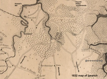 Paradise, Mitchell and Town Farm Rds were connected in the 1832 Ipswich map