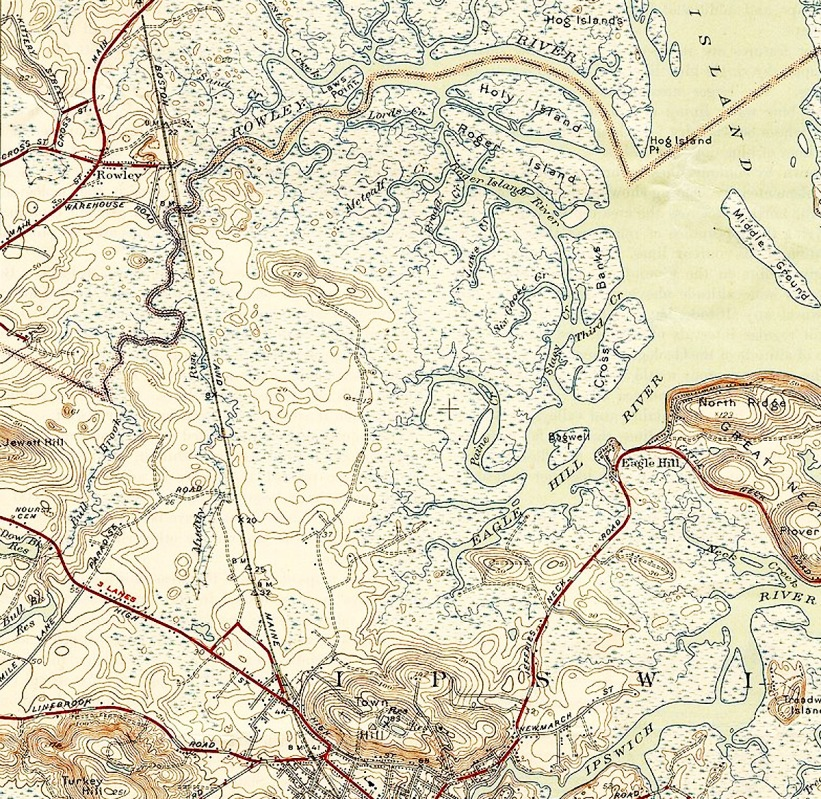Rowley River topo map