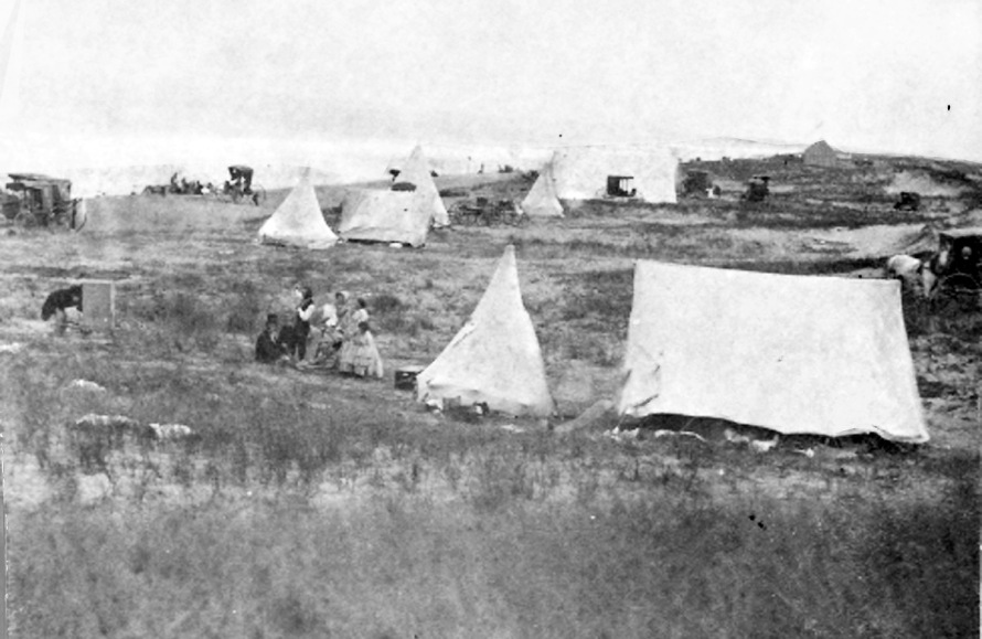 Tents at Ipswich Bluffs