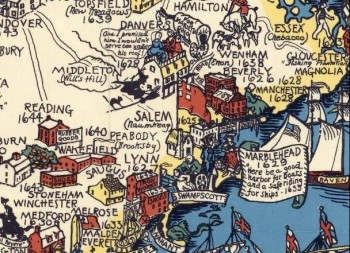 Pictorial Map Shutleff 1930